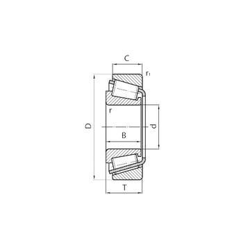 4T-15100/15245 Конические роликовые подшипники